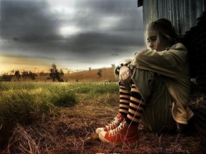 Alone-Boy-Sad-Girl-Sitting-In-Farm-HD-Desktop-Wallpapers